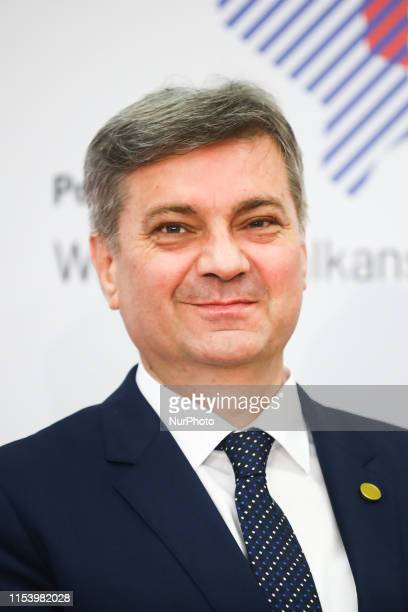 Chairman of the Council of Ministers of Bosnia and Herzegovina Denis Zvizdic during Western Balkans Summit at the Poznan International Fair in Poznan...
