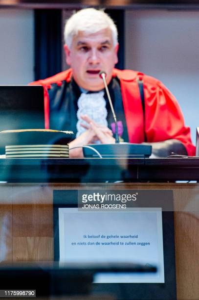Chairman of the court Dirk Thijs pictured during the jury composition for the assize trial of Jonny VDB before the Assize Court of Antwerp province,...