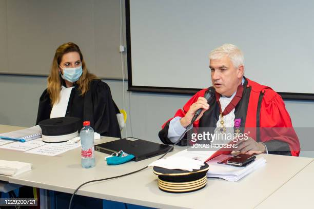 Chairman of the court Michel Jordens pictured during the assize jury constitution for the trial of German mechanic Wittig for the murder of car...