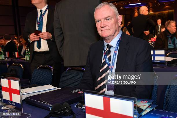 Chairman of The English Football Association Greg Clarke attends the 43rd Ordinary UEFA Congress on February 7 2019 in Rome