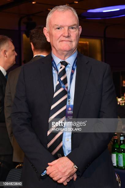 Chairman of The English Football Association , Greg Clarke attends the 43rd Ordinary UEFA Congress on February 7, 2019 in Rome.