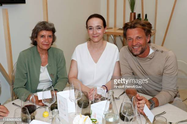 Chairman of the Executive Board of Arte France Veronique Cayla, President of France Television Delphine Ernotte and Journalist Laurent Delahousse...