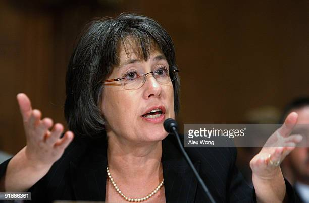 Chairman of the Federal Deposit Insurance Corporation Sheila Bair testifies during a hearing before the Financial Institutions Subcommittee of the US...