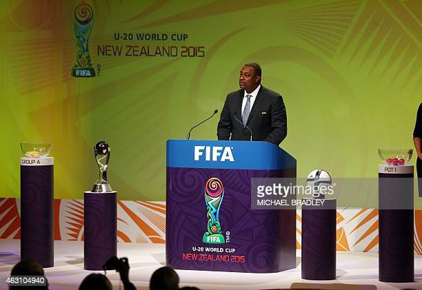 Chairman of the FIFA Under20 World Cup Organising Committee Jeffrey Webb speaks at the official draw for the FIFA Under20 World Cup football...