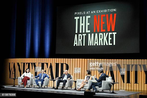 Chairman of the fine arts division at Sotheby's Amy Cappellazzo artist Jeff Koons founder of Gagosian Gallery Larry Gagosian chairman Americas at...
