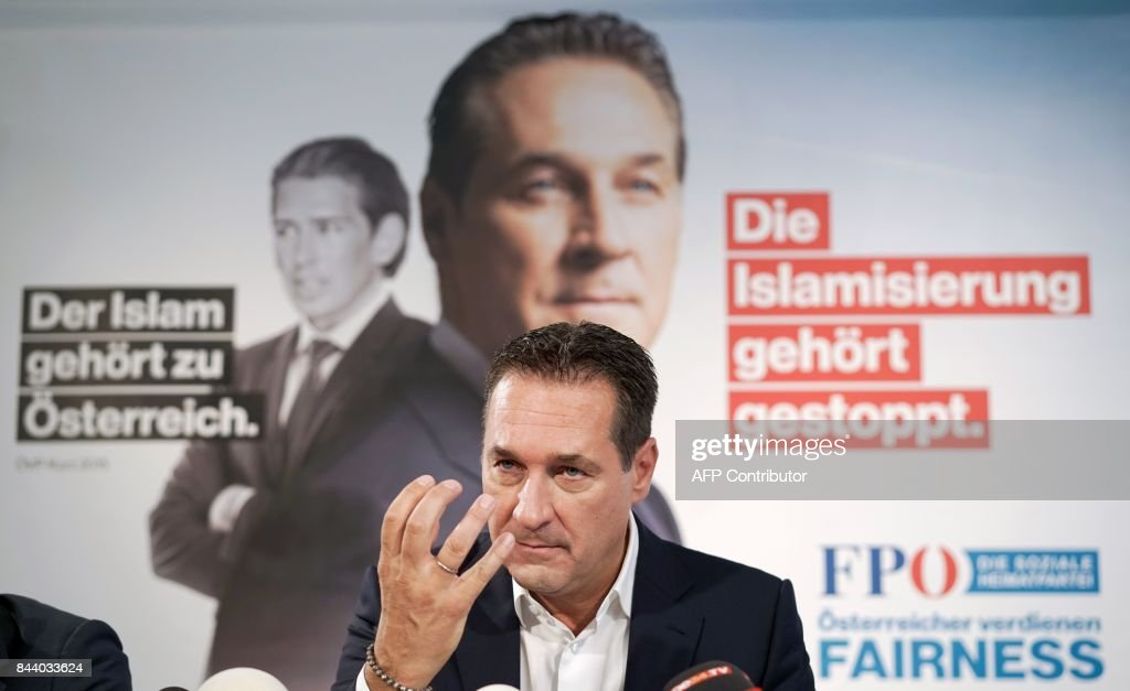 AUSTRIA-ELECTIONS-FPOE-STRACHE : News Photo