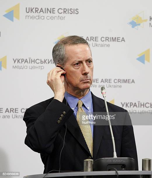 Chairman of the House Committee on Armed Services MAC THORNBERRY during a press-conference in Kiev, Ukraine,31 March 2015. Delegation of the U.S....