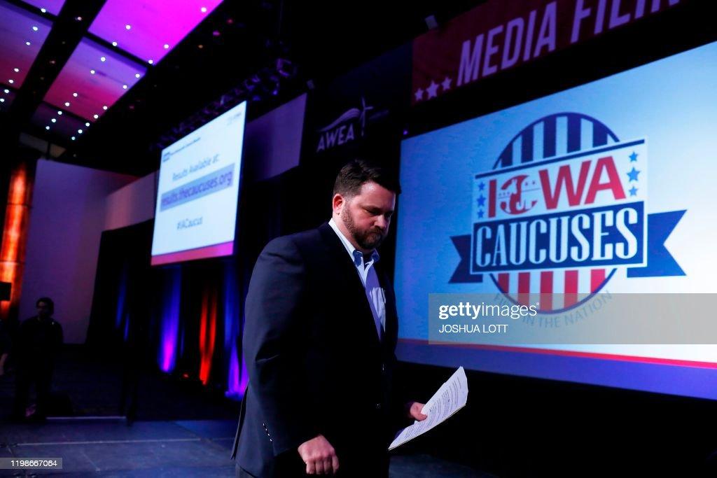 US-vote-IOWA-POLITICS-RESULTS : ニュース写真