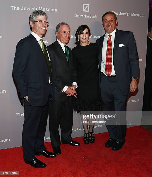 Chairman of The Jewish Museum Robert Pruzan former New York City Mayor Michael Bloomberg Claudia Gould and CEO North America Deatsche Bank Jacques...