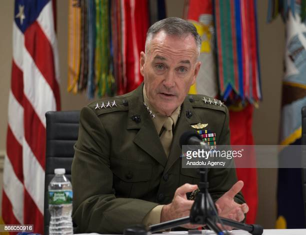 Chairman of the Joint Chiefs General Joseph Dunford US Special Presidential Envoy for Global Coalition to Defeat Daesh Brett McGurk and Colonel David...