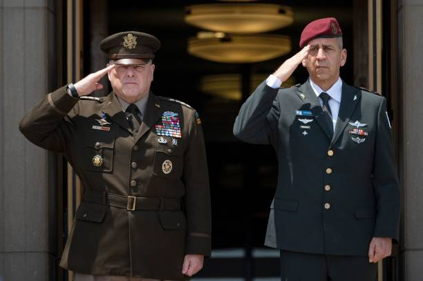 VA: General Milley Hosts Honor Cordon For Israeli Defense Chief Gantz At The Pentagon