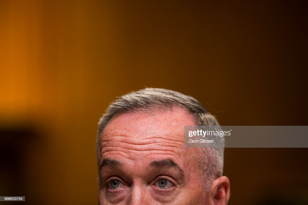 Chairman of the Joint Chiefs of Staff Gen. Joseph Dunford testifies during a Senate Appropriations Subcommittee on Defense hearing to review the FY2019 budget request for the U.S. Dept. of Defense on Capitol Hill on May 9, 2018 in Washington, DC.