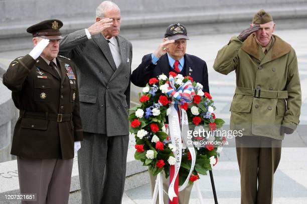 Chairman of the Joint Chiefs of Staff Gen Mark Milley Friends of the National World War II Memorial Chairman Josiah Bunting III Battle of Iwo Jima...
