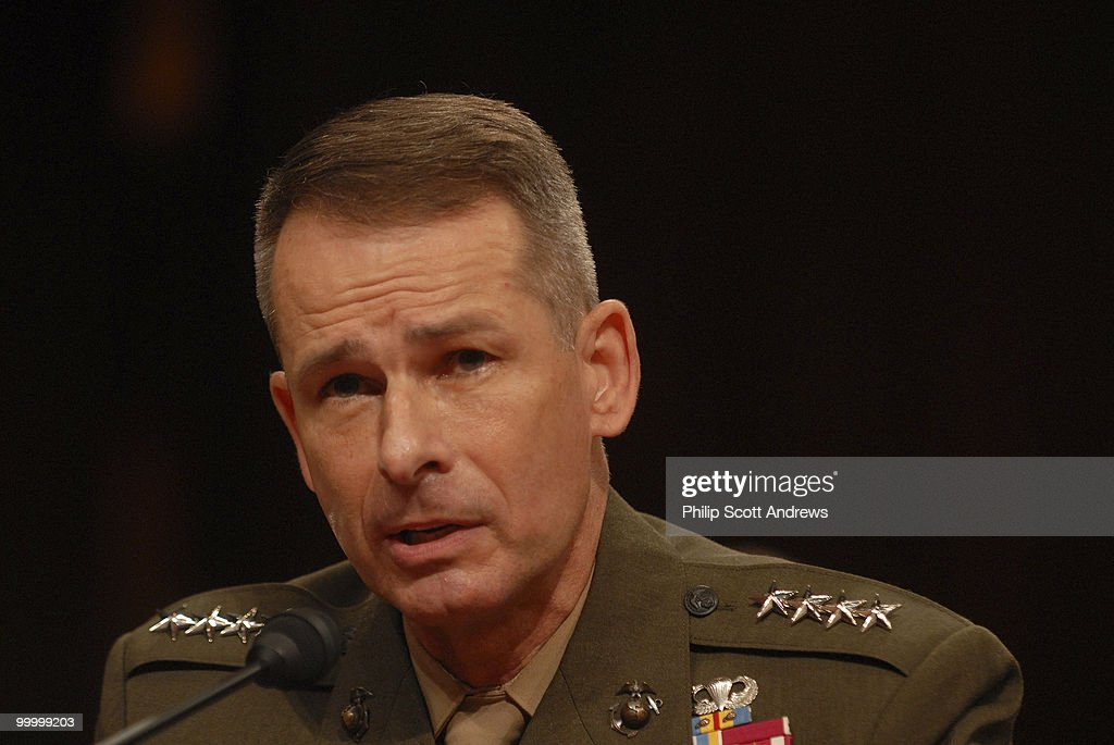 Chairman of the Joint Chiefs of Staff Gen. Peter Pace testifies before the Senate Armed Services Committee on the war in Iraq and Afghanistan.