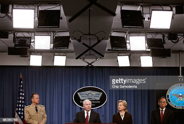 Chairman of the Joint Chiefs of Staff Navy Admiral Mike Mullen Defense Secretary Robert Gates Secretary of State Hillary Clinton and Energy Secretary...