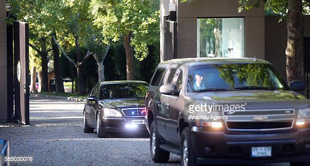 Chairman of the Joint Chiefs of Staff of the United States, Joseph Dunford arrives to Cankaya Palace to meet Turkish Prime Minister Binali Yildirim...