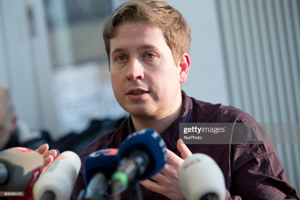 Chairman of the Juso party Kevin Kuehnert press conference in Berlin