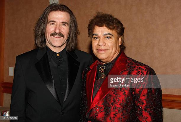 Chairman of the Latin Recording Academy Luis Cobos and honoree Juan Gabriel attends 2009 Person Of The Year Honoring Juan Gabriel at Mandalay Bay...