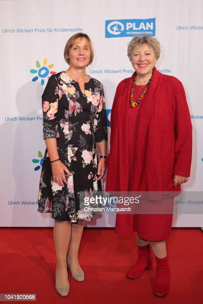 Chairman of the Management Plan International Maike Roettger and MarieLuise Marjan attends the Ulrich Wickert and Peter SchollLatour award at Bar...