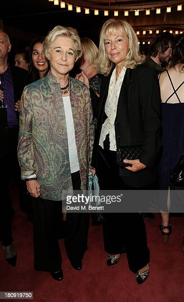 Chairman of the Marie Claire Groupe Evelyne ProuvostBerry and Executive Director of International Editions Laurence Hembert attend the Marie Claire...