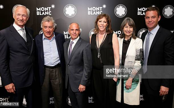 Chairman of the Montblanc Cultural Foundation Lutz Bethge Robert De Niro Mike Giannattasio Honoree Jane Rosenthal Brooke Neidich and Joe Daniels...