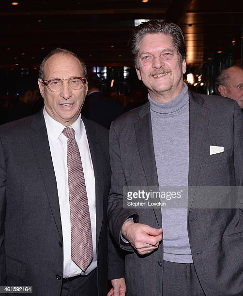 Chairman of The Museum of Jewish Heritage Bruce Ratner and director Andre Singer attend the New York premiere of the HBO documentary film 'Night Will...