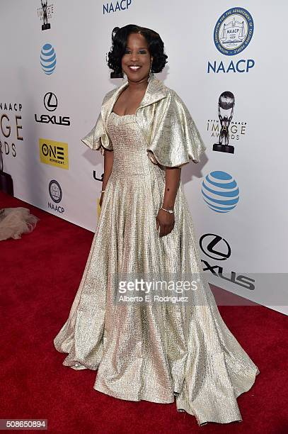 Chairman of the National Board of Directors Roslyn Brock attends the 47th NAACP Image Awards presented by TV One at Pasadena Civic Auditorium on...