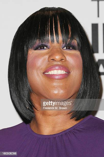 Chairman of the National Board of Directors Roslyn M Brock poses in the press room during the 44th NAACP Image Awards at The Shrine Auditorium on...