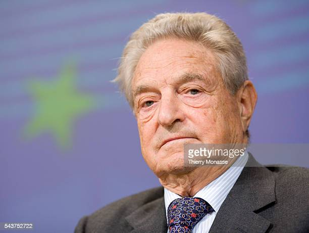 Chairman of the Open Institute and Soros Foundation network Georges Soros holds a press conference at the end of the first ever European Roma Summit...