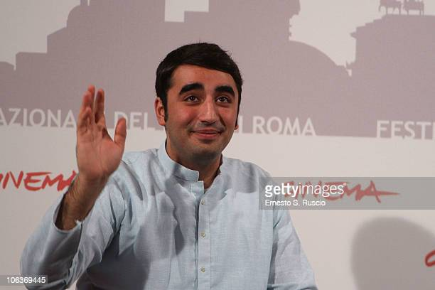 Chairman of the Pakistan Peoples Party Bilawal Zardari Bhutto attends the Bhutto photocall during The 5th International Rome Film Festival at...