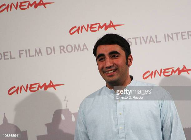 Chairman of the Pakistan Peoples Party Bilawal Zardari Bhutto poses the Bhutto photocall during The 5th International Rome Film Festival at...