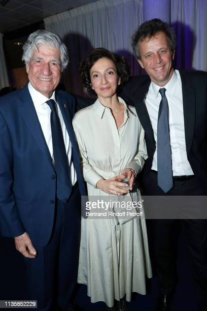 Chairman of the Publicis Supervisory Board Maurice Levy DirectorGeneral of the UNESCO Audrey Azoulay and Chairman of the Publicis Board Arthur Sadoun...