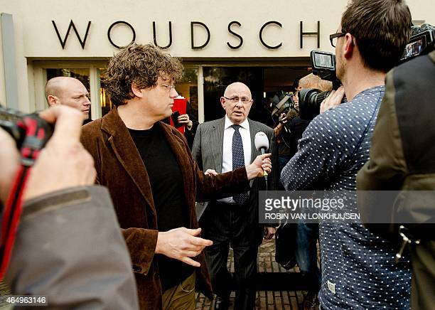 Chairman of the Royal Dutch Football Association Michael van Praag talks to the press after a press conference in Zeist, on March 2 where he will...