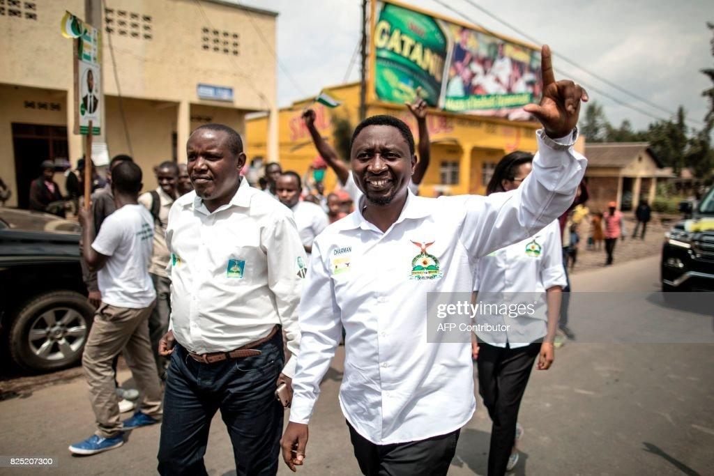 RWANDA-VOTE-ELECTIONS-HABINEZA : News Photo