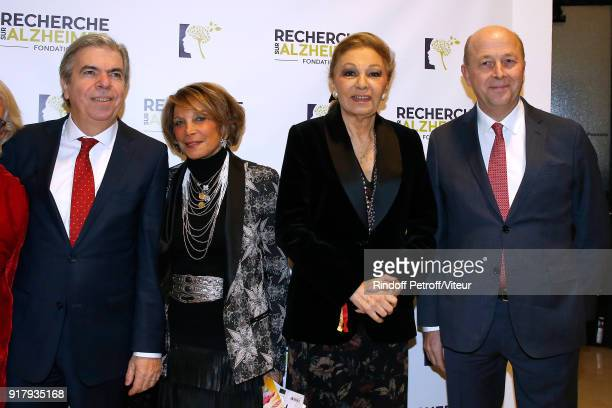 Chairman of the Scientific Committee of the Association for Research on Alzheimer's Professor Bruno Dubois guest HIH Empress Farah Pahlavi and...
