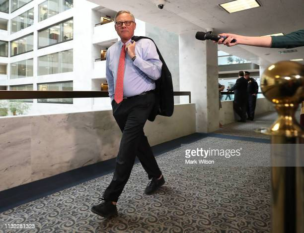 Chairman of the Senate Intelligence Committee Richard Burr walks to a closeddoor hearing where Michael Cohen former attorney and fixer for President...