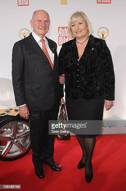 Chairman of the Supervisory Board of Volkswagen AG Ferdinand Piech and his wife Ursula Piech attend the 2010 Das Goldene Lenkrad awards at Axel...