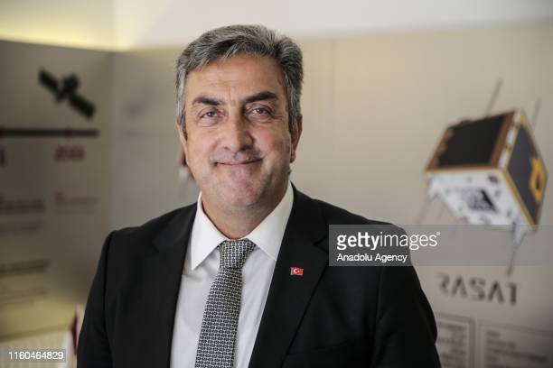 Chairman of the Turkish Space Agency, Serdar Huseyin Yildirim poses for a photo during an exclusive interview with Anadolu Agency in Ankara, Turkey...
