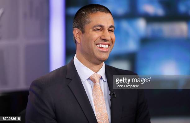 Chairman of the United States Federal Communications Commission Ajit Varadaraj Pai is interviewed by Stuart Varney of Fox Business Network at FOX...