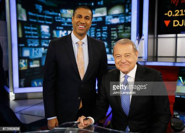 Chairman of the United States Federal Communications Commission, Ajit Varadaraj Pai is interviewed by Stuart Varney of Fox Business Network at FOX...