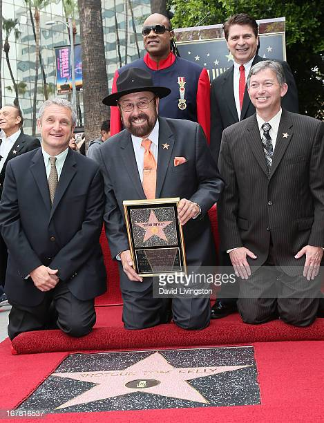 Chairman of the Walk of Fame selection committee David Green radio personality Shotgun Tom Kelly recording artist Stevie Wonder KRTH program director...