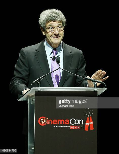 Chairman of the Walt Disney Studios Alan F Horn speaks onstage at Cinemacon 2014 Day 3 held at The Colosseum at Caesars Palace on March 26 2014 in...