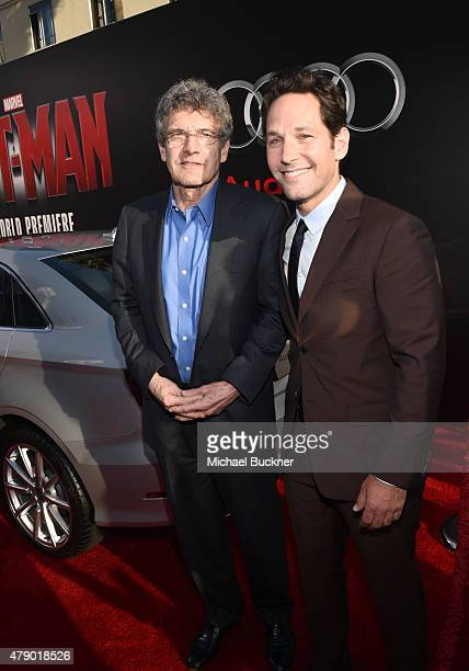 Chairman of the Walt Disney Studios Alan Horn and actor Paul Rudd attend Audi celebrates the world premiere of AntMan at The Dolby Theatre on June 29...