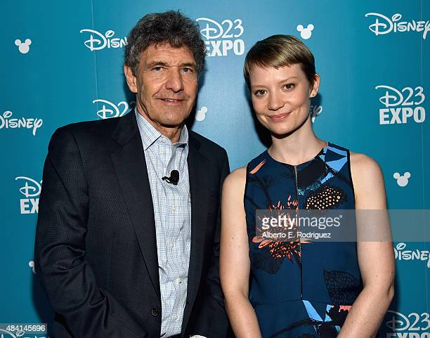 Chairman of the Walt Disney Studios Alan Horn and actress Mia Wasikowska of ALICE THROUGH THE LOOKING GLASS took part today in 'Worlds Galaxies and...