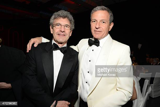 Chairman of The Walt Disney Studios Alan Horn and Chairman and chief executive officer of The Walt Disney Company Bob Iger attend LACMA's 50th...