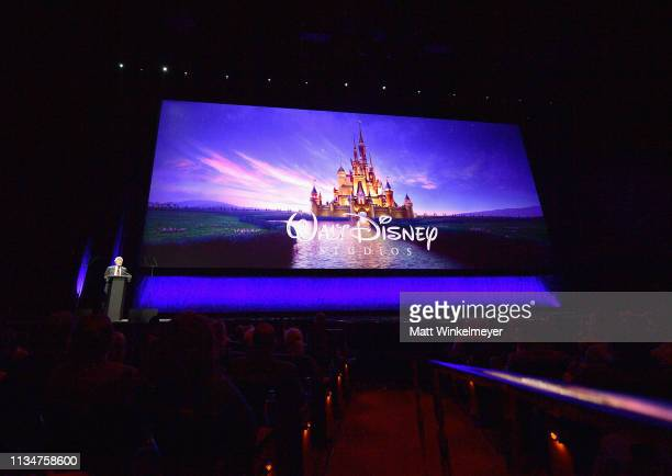 Chairman of The Walt Disney Studios Alan Horn speaks onstage at CinemaCon 2018 Walt Disney Studios Motion Pictures Invites You to a Special...