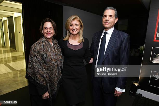 Chairman of Time Anne Moore, Co-Founder and Editor-in-Chief The Huffington Post Arianna Huffington and Managing Editor Time Richard Stengel attend...