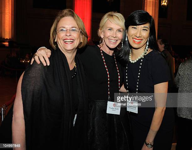Chairman of Time, Inc, Ann Moore, actress/producer Trudie Styler and CEO of Avon Products Andrea Jung at the 2010 Fortune Most Powerful Women Summit...