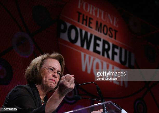 Chairman of Time, Inc, Ann Moore attends the Fortune Most Powerful Women summit at Mandarin Oriental Hotel on October 4, 2010 in Washington, DC.