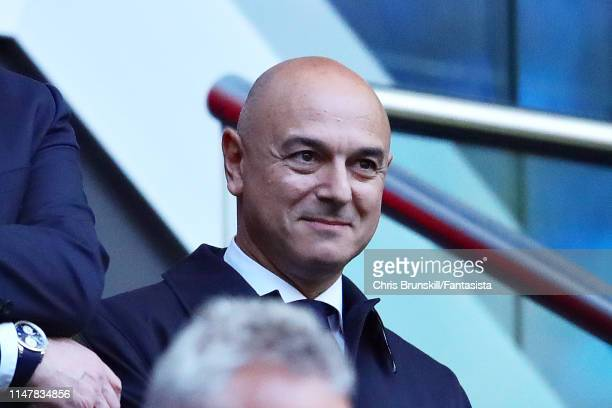 Chairman of Tottenham Hotspur Daniel Levy looks on during the UEFA Champions League Semi Final second leg match between Ajax and Tottenham Hotspur at...